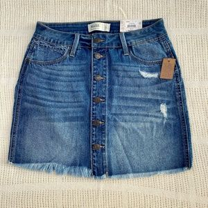 MUDD FLX STRETCH Denim Button Up Skirt Size 5 NEW